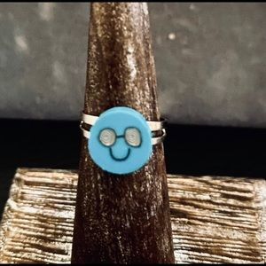 Emoji Blue Ring Adjustable size